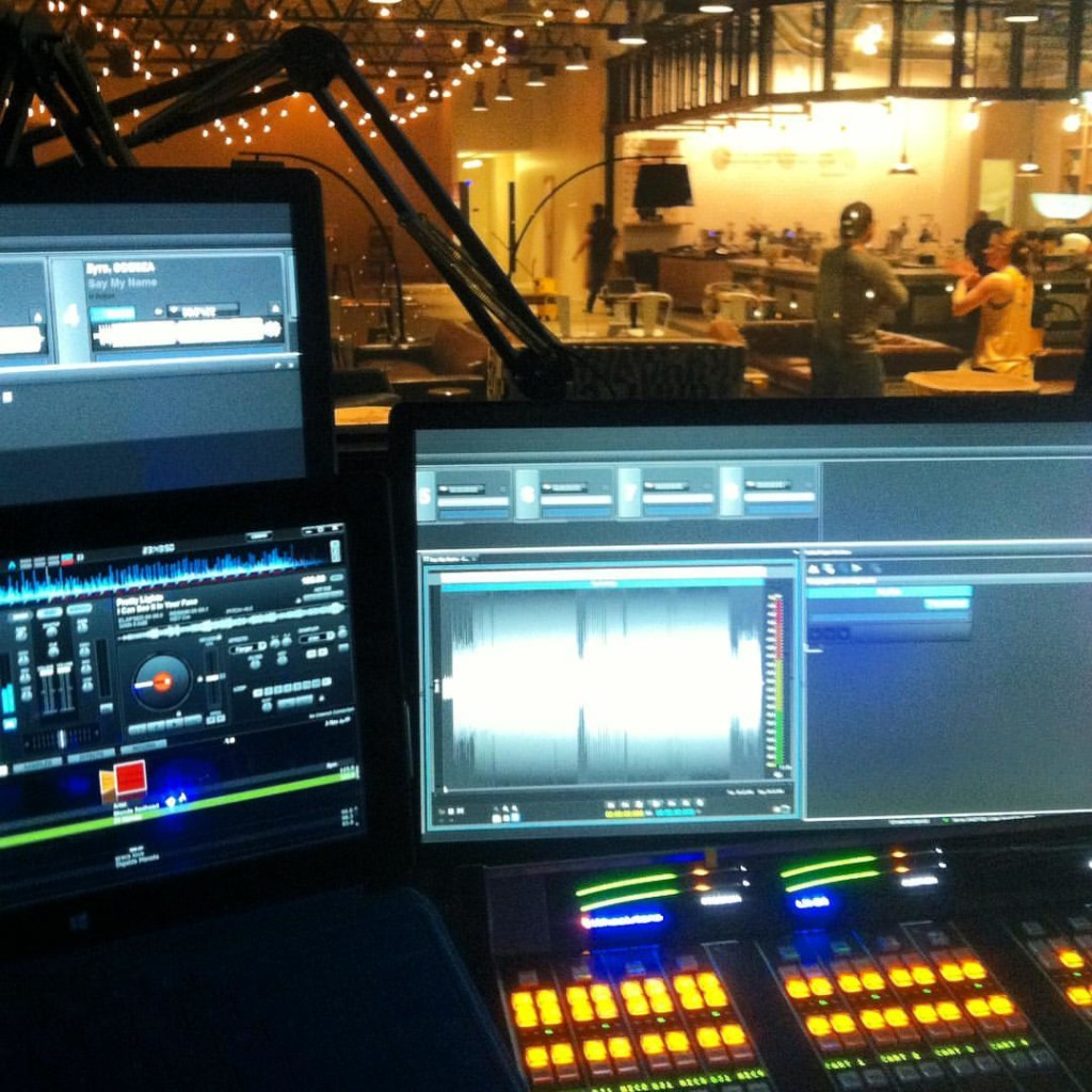KEXP's new home taken this week from DJ booth. Pic by Michele Myers.